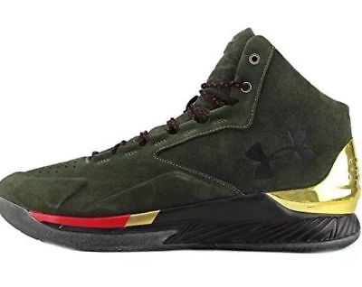 Under Armour UA Curry 1 Lux Mid SDE Olive Dark Green 1296617 330 Men's Size 9.0 - Mid Dark Olive