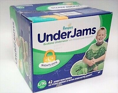 Pampers UnderJams Disposable Bedtime Underwear for Boys, Size L/XL, 42 Count