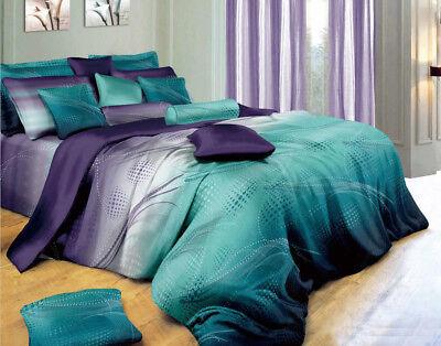 VITARA King Size Bed Duvet/Doona/Quilt Cover Sheet Euro Pillowcases 9pcs Set (Euro King Size Bed)