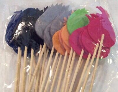 Troll Cupcake Toppers Felt Party Picks 24 Piece - Felt Cupcake
