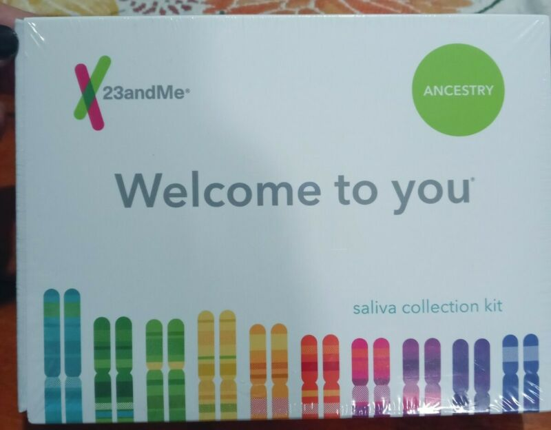 23andMe Genetic Ancestry Test Saliva Collection Kit Sealed Expired 2020-09-12