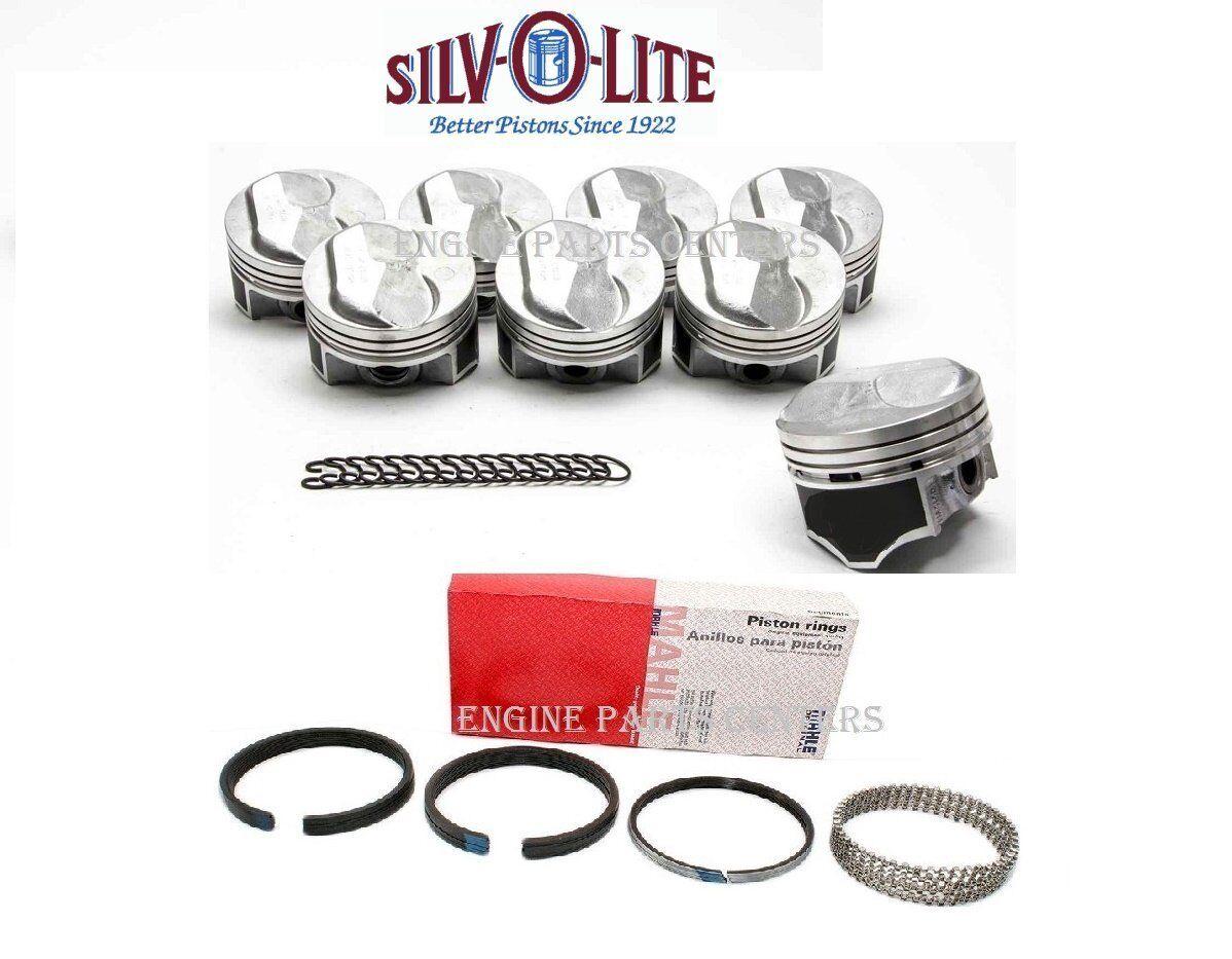 Silvolite cast pistons /& moly rings 350 Pontiac .060 over