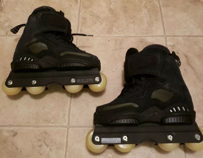 Rollerblade TRS Access Black Aggressive Skates US Size 4 Excellent Condition