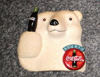 Coca Cola 1995 Magnet Polar Bear holding Bottle