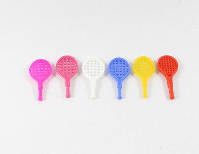 Schlumpf Schlümpfe === zu 2.0093 === 6 x Tennisschläger für Tennisschlumpf