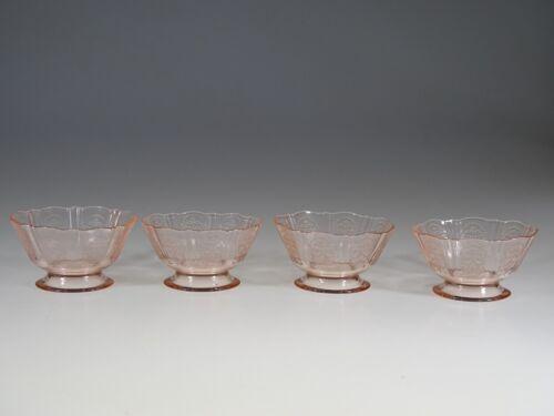 Set of 4 Vintage MacBeth-Evans Pink American Sweetheart Large Sherbets c.1935