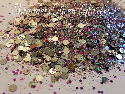 GUN METAL, PURPLE, PINK GLITTER MIX, NAIL ART, FESTIVAL, CHUNKY AND FINE - Glitter Gun