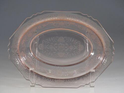 Vintage Hazel-Atlas Glass Pink Florentine No. 1 Oval Vegetable Bowl c.1932