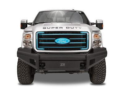 1999-2004 Ford Super Duty Fab Fours Black Steel Elite Front Bumper FS99-Q1661-1