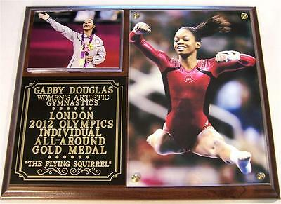 Gabby Douglas 2012 Olympic Womens Gymnastics All Around Gold Medal Photo Plaque
