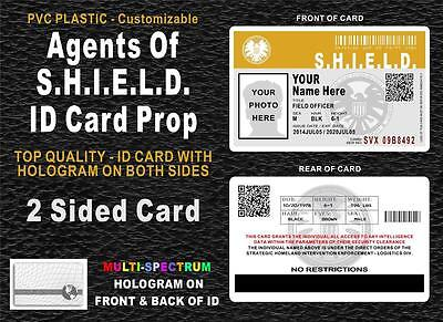 Agents Of SHIELD ID Badge / Card Prop - CUSTOMIZABLE - HOLOGRAM ON BOTH SIDES