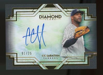 2021 Topps Diamond Icons CC Sabathia 1/25 Auto Autograph