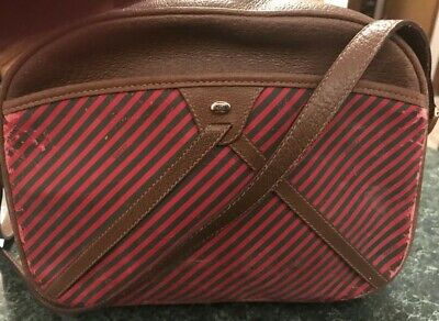 Gucci Vintage Accessory Collection Purse; Red And Green Striped Authentic 1980s