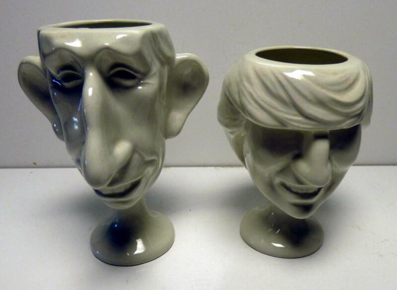 Luck & Flaw Spitting Image egg cups of Prince Charles and Princess Diana
