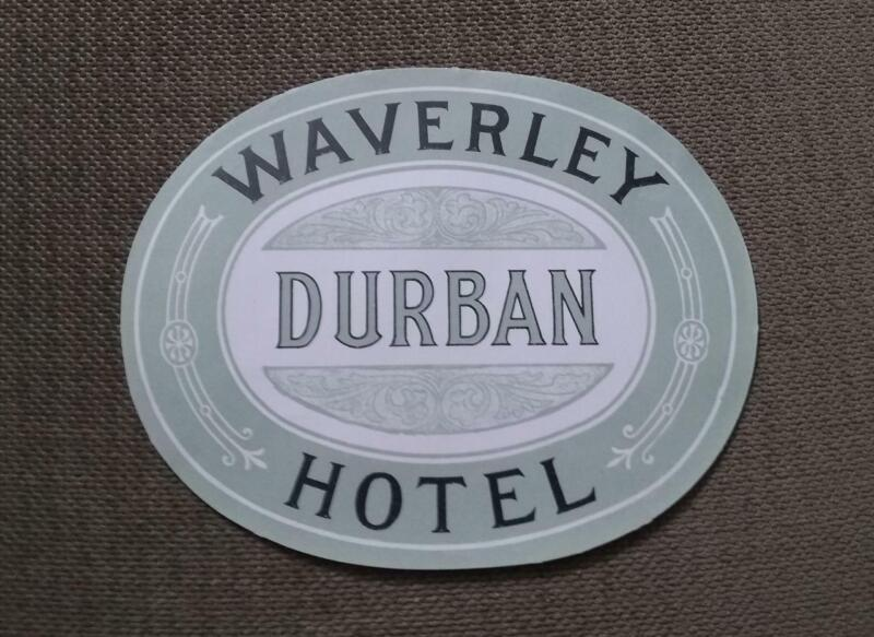 1910 WAVERLEY HOTEL DURBAN SOUTH AFRICA LUGGAGE LABEL JOHN PHILIP SOUSA TOUR