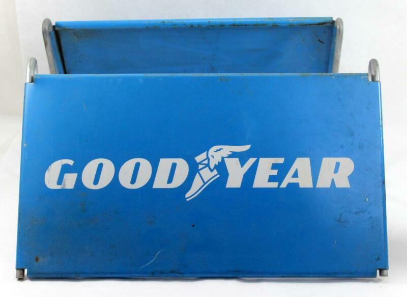 Vintage Goodyear Tire Sign Original Store Display Tire Stand