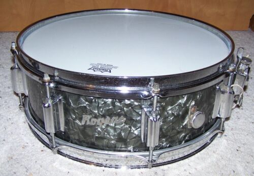 """1960's Rogers 5""""x14"""" Powertone Snare Drum #2476 Cleveland"""