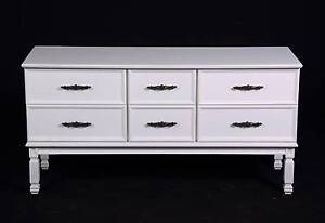 Lovely Hamptons style lowline 6 drawer chest,DELIVERY AVAILABLE. Oakford Serpentine Area Preview