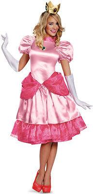 Prinzessin Peach Deluxe Damenkostüm Super Mario Videospiel rosa Cod.224044
