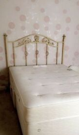 Shabby chic style Double bed headboard (only)