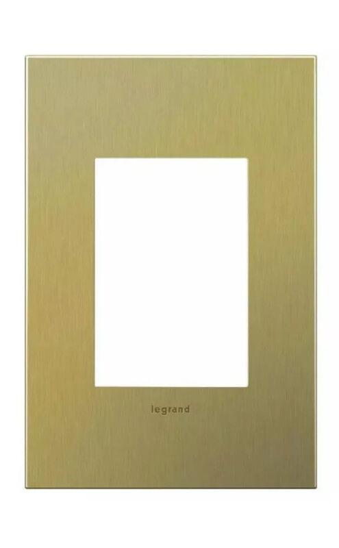5 New Legrand adorne 1-Gang Wall Plate, Brushed Brass 3 Module