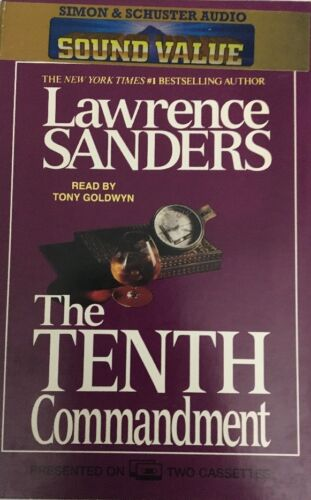 The Tenth Commandment by Lawrence Sanders Audiocassettes-TESTED-RARE-SHIP N 24HR