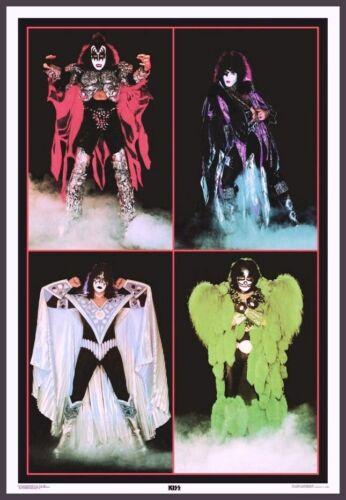 "KISS Dynasty Era 24 x 35 ""SUPER HEROES"" Custom Poster - Gene Paul Ace Peter"