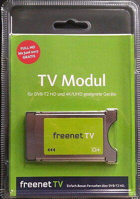 freenet TV CI+ Plus Modul für DVB-T2 HD und 4K/UHD geeignete Geräte