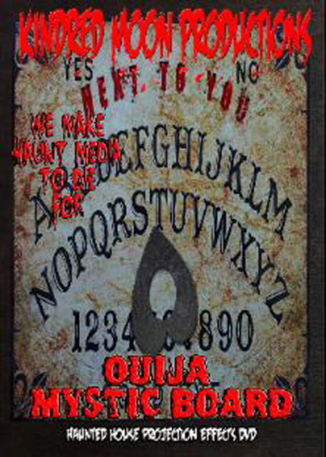 ouija mystic board halloween projection effects dvd haunted house props