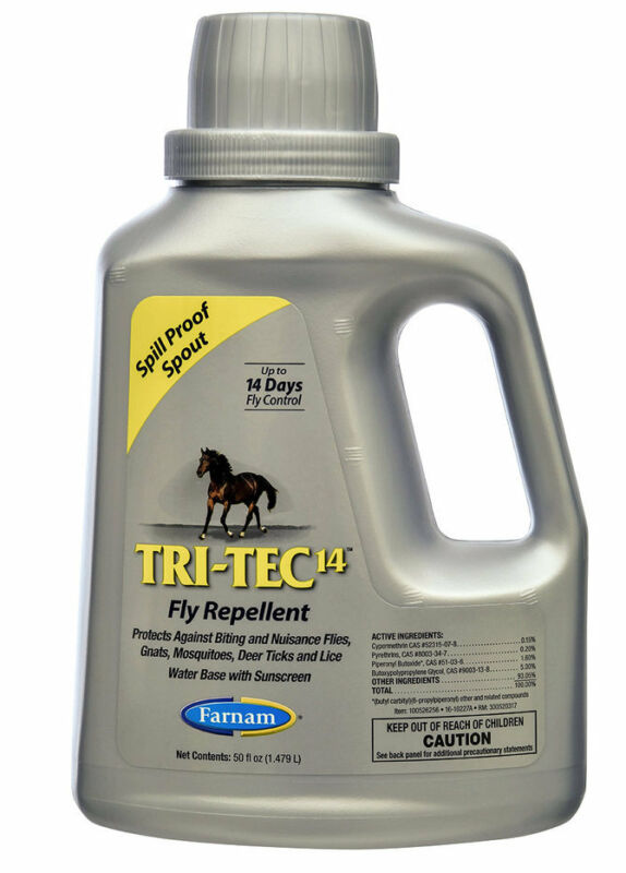 Tri-Tec 14 Sweat Risistant Fly Spray For Horses Lasts Up To 14 days