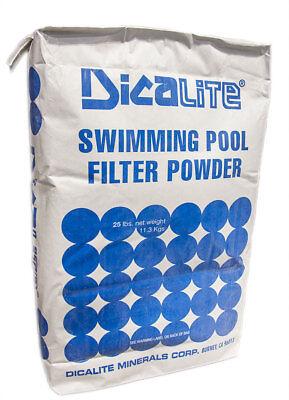 Diatomaceous Earth Filter Powder (Swimming Pool Diatomaceous Earth DE Powder Diatomite Filter Media 25 lbs )