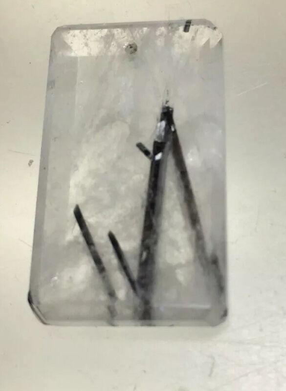 28mm/16mm Tourminalated Quartz Rectangle Pendant #86