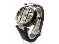 CARTIER PASHA 2379 GRILL AUTOMATIC EXHIBITION BACK LEATHER STRAP 38MM WATCH