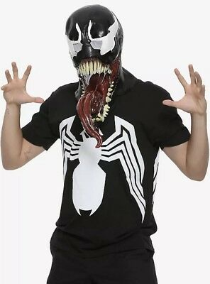 Marvel Venom Deluxe Costume Mask Adult Amazing Villain Spiderman NWT!
