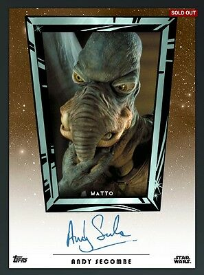 DIGITAL CARD Star Wars Card Trader Andy Secombe Digital Signature Card SWCT Auto