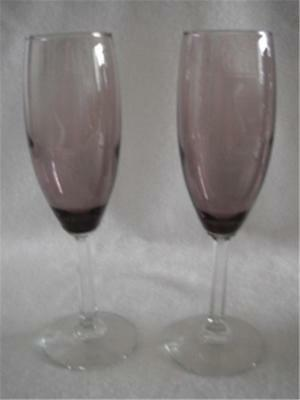 Purple Wine Glasses Bulk (2 Piece Set Wine Glasses 7.75