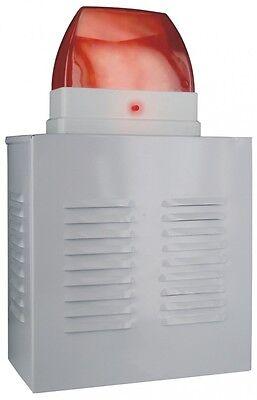 Alarm-anlage Sirene Attrappe Dummy mit blinkender LED Alu-Gehäuse elro NEU