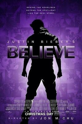 Believe movie poster - Justin Bieber poster - 11 x 17 inches
