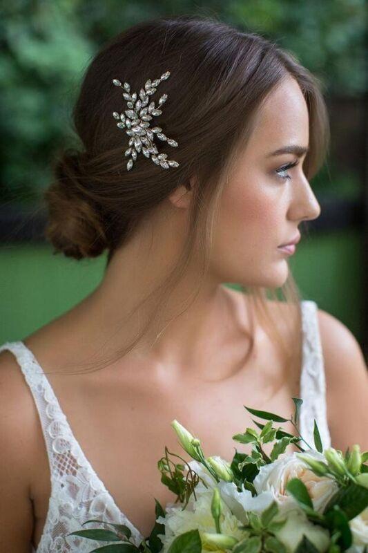 Brides & Hairpins ISADORA Crystal Gold Hair Clip MSRP:$225.00