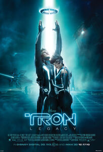 TRON LEGACY MOVIE POSTER 2 Sided ORIGINAL HALF SHEET 18.5x27 JEFF BRIDGES