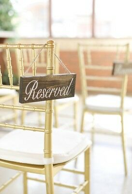 Reserved Real Wood Sign, Seating, Wedding Isle, Table, White Elegant - Reserved Seating Signs