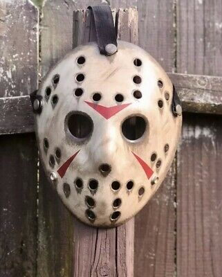 Jason Voorhees Custom Hand Painted Mask - High Quality- - Masquerade Custome