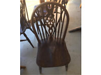 CLEARANCE!! Set of 4 dark wood dining chairs