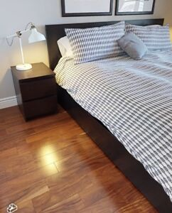 IKEA Malm King Size Bed with 4 Storage Drawers for Sale!