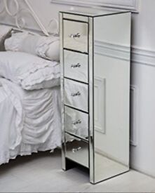 Mirrored Drawers and French Mirror