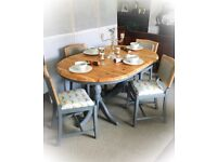 Shabby Chic Dining Table & Four Chairs