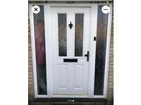 Anglian UPVC front door with side panels