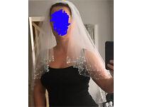 White sequin veil, EXCELLENT condition