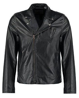 DE Herren Lederjacke Biker Men's Leather Jacket Coat Homme Veste En cuir R63a