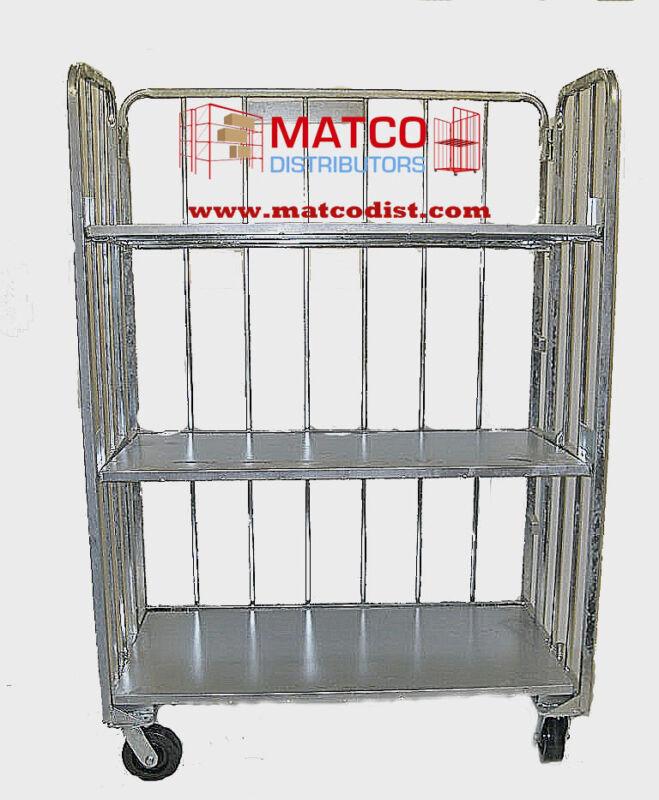 3 Shelf Folding cart, Industrial Shipping & Stocking Cart